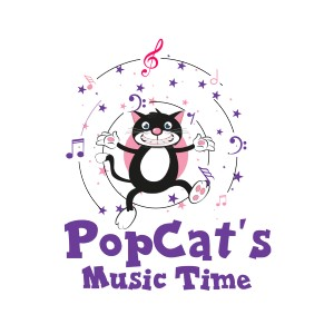 POPCAT'S MUSIC TIME logo image